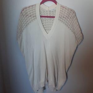 Gap Lightweight Cream Short Sleeve Sweater